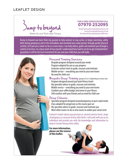 MIDDLETON DAVIES BUMP TO BEYOND LEAFLET DESIGN