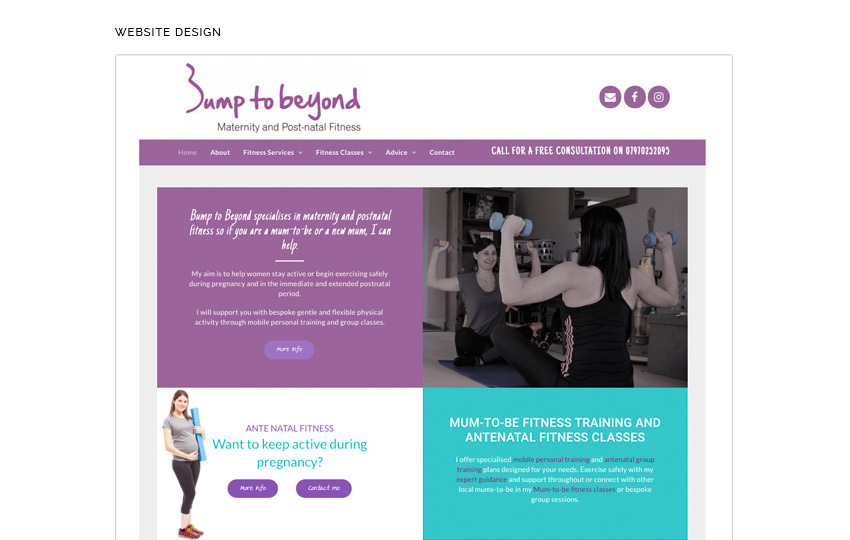 MIDDLETON DAVIES BUMP TO BEYOND WEBSITE DESIGN