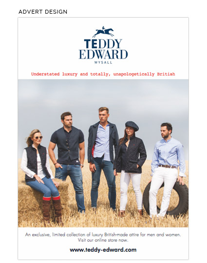 Brand development Client image Teddy Edward Clothing